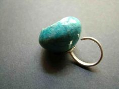 raku ceramic and terling silver ring