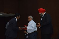 Shri M. K. Desai is being presented by Memento by a Committee member of CMIA