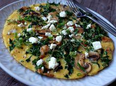 Enkel omlett med sopp og fetaost (Bakekona)