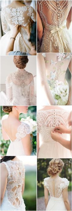 vintage wedding dresses-lace bridal gowns / http://www.deerpearlflowers.com/35-wedding-dress-back-styles-we-love/