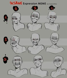 Insane expression how to draw anime faces
