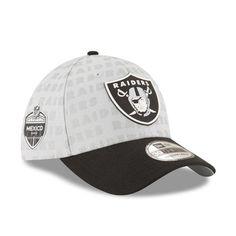 b8c401c2de010 Oakland Raiders New Era 2017 Mexico Game Stadium Print Crown 39THIRTY Flex  Hat - Gray
