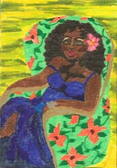 Original Marker Painting on Wood AFTER HOURS by African American Folk Artist, Stacey Torres - $60.00 -  Enjoy a 10% discount (off total order) on this drawing, or any item in my Etsy Store. Click on the link, and when you are ready to checkout, simply add the following 10% Off COUPON CODE: STA2014