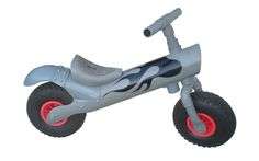the children's bike made out of 100% standard PVC drain pipes, where the saddle has been modeled from drain pipes.
