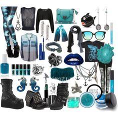 Sea Punk, created by karathekraken on Polyvore