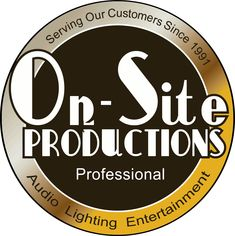 On-Site Productions is the leader in wedding DJ, Lighting, Draping, PhotoBooth, and many more.