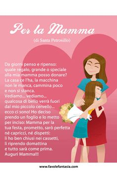 Per la mamma_Santa Petrosillo Mather Day, Italian Lessons, Italian Phrases, Smart Quotes, Italian Language, Learning Italian, Mothers Day Crafts, Quote Posters, Nursery Rhymes