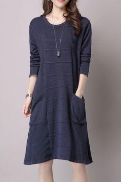 Knee Length Knitted Dress