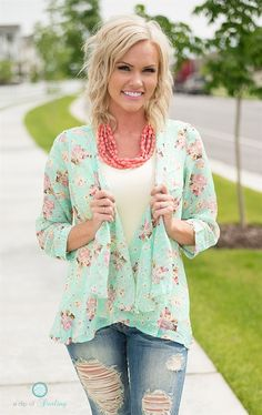 Floral and Solid Cardigans - 4 Options - XS-3XL | Jane