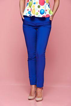 Comanda online, Pantaloni office Fofy albastri conici cu talie medie. Articole masurate, calitate garantata! Special Events, Capri Pants, Fashion, Moda, Capri Trousers, Fashion Styles, Fashion Illustrations, Fashion Models