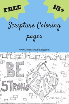 I have put together several Scripture coloring pages to help you bring Scripture into your home in a fun way. Great for Shabbat mornings!
