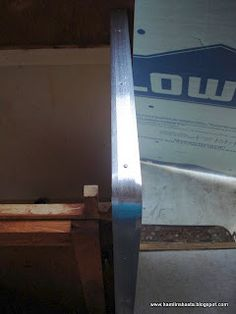 Vintage Trailer Trim is super expensive. This reno used aluminum threshold strips. They're cheap! GENIUS!!!