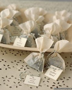 Tea bag wedding favours - Stephens rooibos