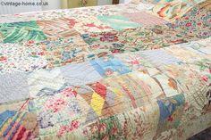 Vintage Home - 1920s Welsh Patchwork Quilt.