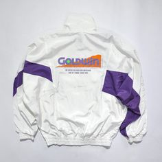 RARE Vintage 90s GOLDWIN International Tennis Gear, Zip Up Windbreaker... ($35) ❤ liked on Polyvore featuring activewear, activewear jackets and vintage sportswear