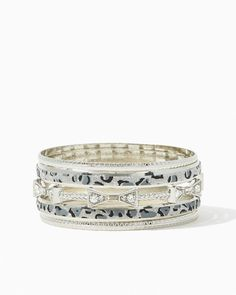 charming charlie | Leopard Sandblast Bangle Set | UPC: 410007032452 #charmingcharlie