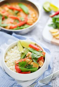 Thai Red Curry Recipe with Vegetables - Cookie and Kate Cooking Recipes, Healthy Recipes, Diy Food, Vegetable Recipes, Thai Red Curry, Dinner Recipes, Good Food, Paleo, Food And Drink