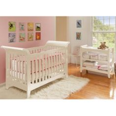 Lolly+&+Me+Taylor+Convertible+Crib+&+Changing+Table+Set
