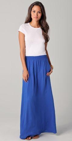 Tee-style maxi dress
