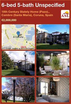 6-bed 5-bath Unspecified in 18th Century Stately Home (Pazo)., Cambre (Santa Maria), Coruna, Spain ►€2,000,000 #PropertyForSaleInSpain