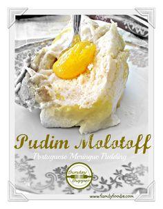 Portuguese Meringue Pudding #SundaySupper