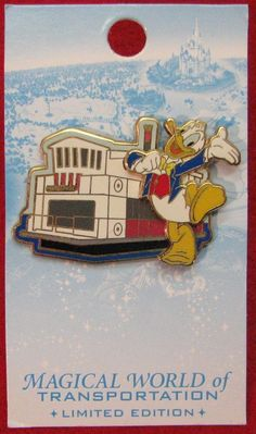 DONALD DUCK FERRYBOAT MAGICAL WORLD of TRANSPORTATION LE DISNEY PIN