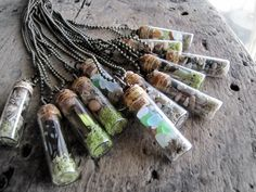 I missed out buying one of these cool natural history vial necklaces!