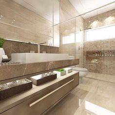 regram @joanaamboniarquitetura Banheiro social com revestimento Mocca Gotas da @ceusarevestimentos e bancada em mármore Emperador Light ✨✨ #decor #decoracao #detalhes #details #desing #designinteriores #decoration #decorating #style #furniture #home #ho