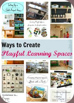 Ways to create Playful Learning Spaces for kids
