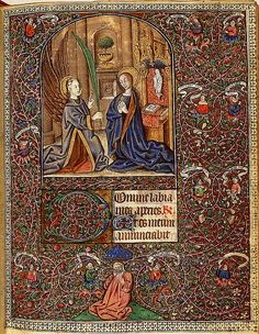 Savoie, Suiveur du Maitre du Prince de Piémont - Annonciation- surrounded by a tree of Jesse La Haye, 1465-1470, KB 76 G 14, fol. 9