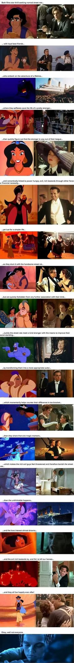 Proof that Aladdin and Titanic are basically the same movie - Imgur