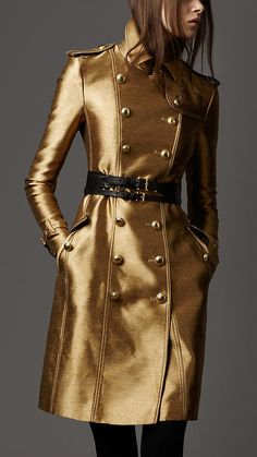 Burberry golden shimmer coat