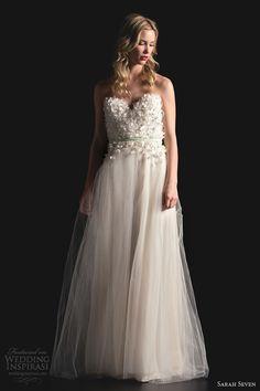sarah seven bridal 2014 dulcinea strapless wedding dress