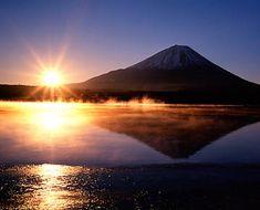 Mt. Fuji with the sun rise