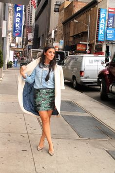 NYFW Day 1 (Un-offically): Camo & Blue Jean - Daily Look - Vice N Virtue Style