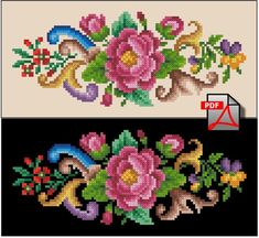 Miniature with a rose cross stitch pattern small floral berlin woolwork digital format PDF flower embroidery handbag-Miniature with a rose unique vintage flower cross stitch pattern recharted from an Cross Stitch Rose, Cross Stitch Flowers, Embroidery Patterns, Cross Stitch Patterns, Flower Embroidery, Free To Use Images, Motif Floral, Le Point, Fabric Painting