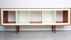 KALLAX shelving unit with plywood and dowel legs