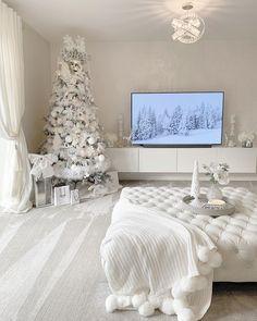 - home design - weihnachten Living Room Decor Cozy, Chic Living Room, Home Decor Bedroom, Christmas Room, White Christmas, Christmas Wishes, Christmas Baking, Christmas 2019, Christmas Crafts