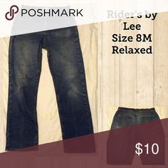 Rider's by Lee, Size 8M. Rider's by Lee Relaxed, Size 8M Lee Jeans Straight Leg