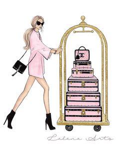Arte Fashion, Chanel Fashion, Gold Fashion, Fashion Fashion, Paper Fashion, Fashion Design, Art Mural Fashion, Fashion Prints, Fashion Decor