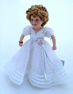 Shirley Temple Movie Classics Curly Top Porcelain Doll Danbury Mint