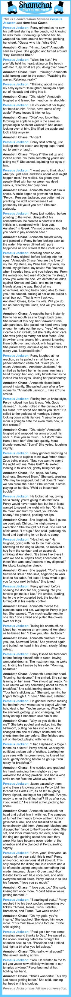 Ignore the internal screaming, ignore the- WHO AM KIDDING? PERCABETH WEDDING RICK. MAKE IT HAPPEN!