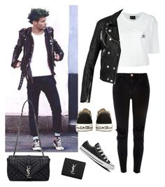 """""""Steal his style : Louis Tomlinson"""" by maryanacoolstyles ❤ liked on Polyvore featuring adidas, River Island, Converse, Burberry and Yves Saint Laurent"""