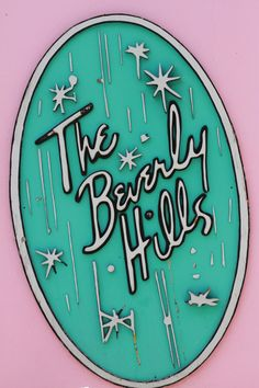 INSPO FOR WEDDING VENUE SIGNS - The Beverly Hills Hotel