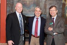 Grange Insurance Audubon Center Board Chair Greg Cunningham, national Audubon President David Yarnold, and Columbus Audubon President Bill Heck.