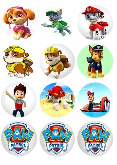 Edible Image Cake Topper Paw Patrol Cupcake Toppers by CakeImages, $7.99