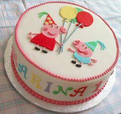 LAS COOKITAS: OTRA VEZ... ¡¡¡TARTA DE PEPPA PIG!!! Peppa Pig Birthday Cake, Girl Cakes, Sweet Cakes, Amazing Cakes, Baking Recipes, Fondant, Cake Decorating, Birthday Parties, Bakery