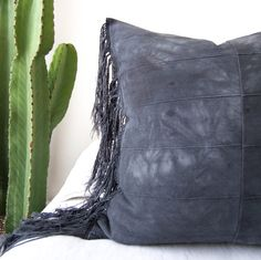 Locoweed Pillow Cover Indigo Pillow Mudcloth Boho by SanJunipero