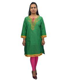 Loved it: Bpt Green Cotton Kurti, http://www.snapdeal.com/product/bpt-green-cotton-kurti/1069724888
