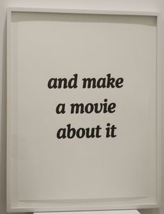 Mads Lynnerup, 'and make a movie about it,' 2009, Lora Reynolds Gallery